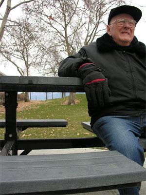 Len on bench