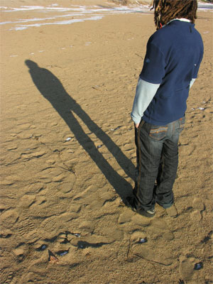 Shadow on the sand